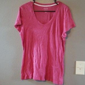 NWOT pink v neck tshirt